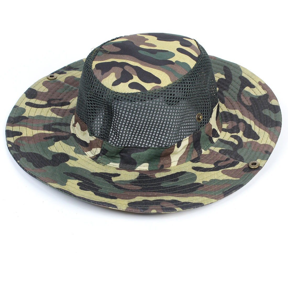 Camouflage Pattern Adjustable Mesh Style Visor Hat Cap for Fishing