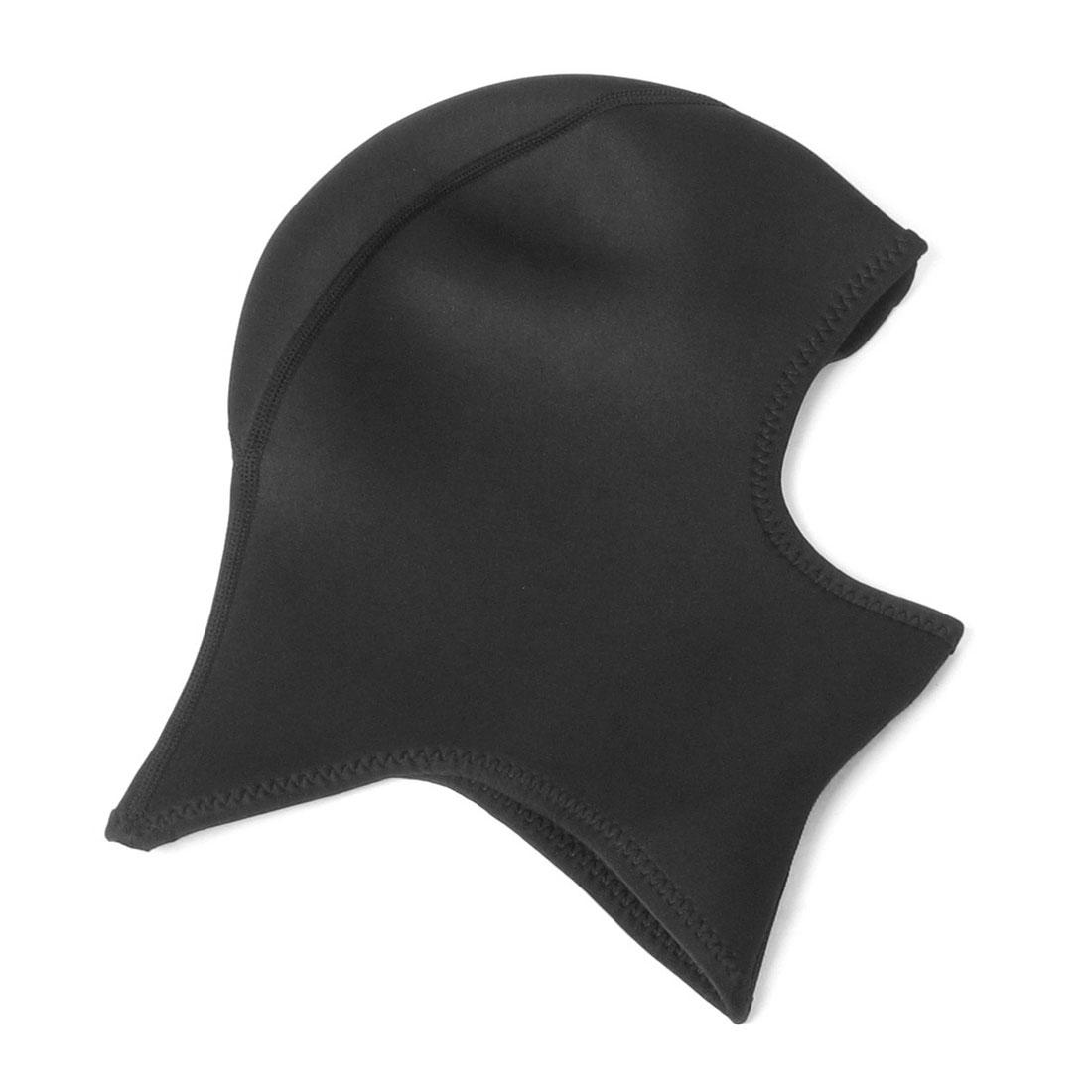 Motorbike Biker Black Stretchy Support Head Neck Mask Thin Balaclava L