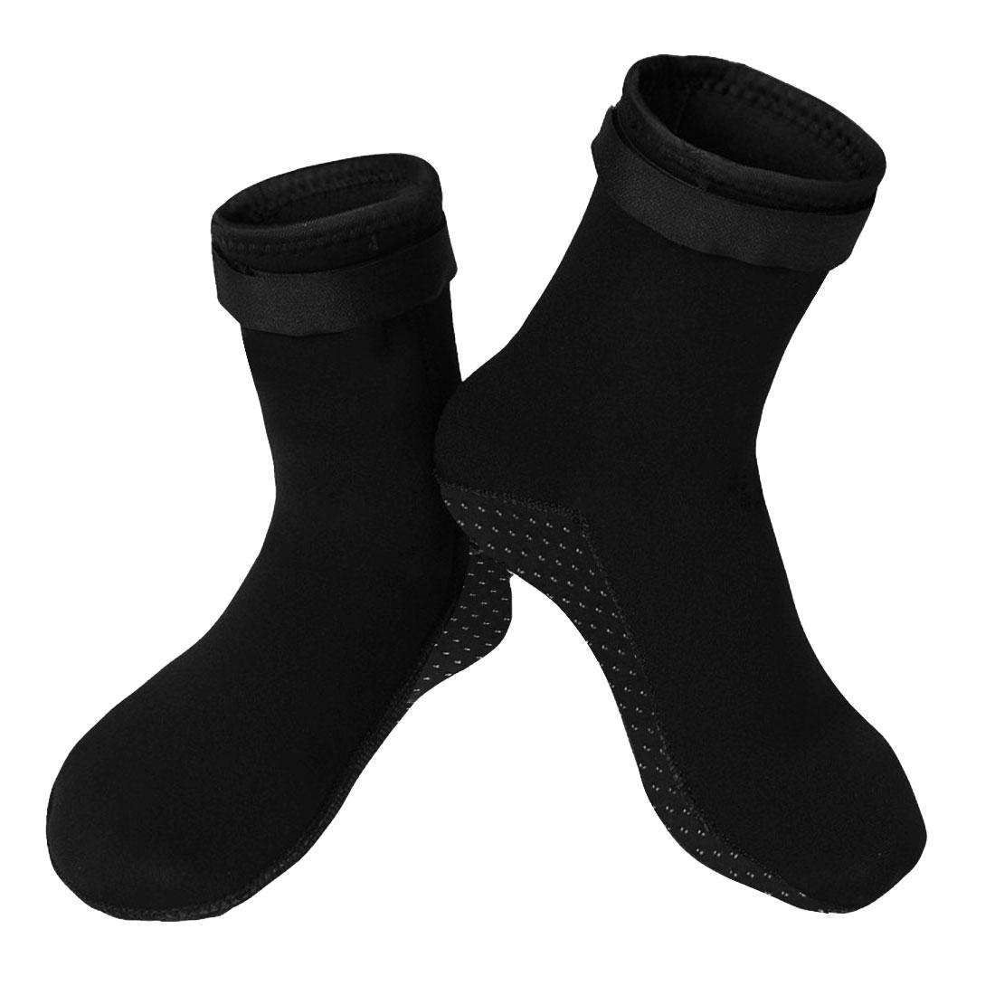Pair Black Detachable Closure Neoprene Dive Water Skiing Diving Shoes XS