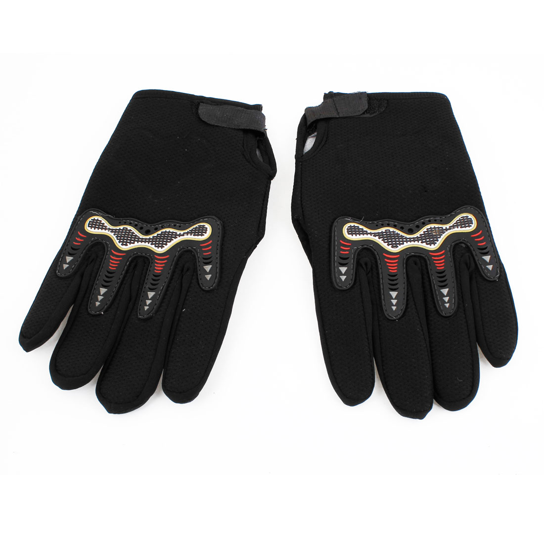 Pair Man Protective Hand Sports Mountain Bike Gloves Black