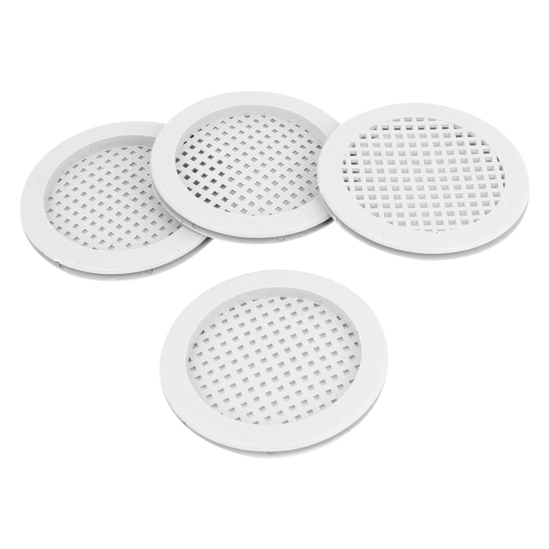 Kitchen Bathroom Cabinet Plastic Round Mesh Hole Air Vent Louver 4pcs