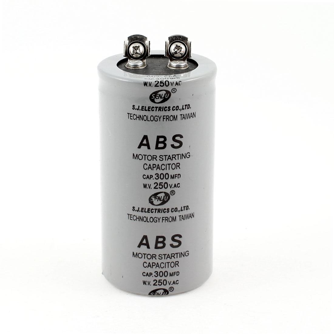 Cylinder Motor Starting Capacitor 300MFD AC 250V