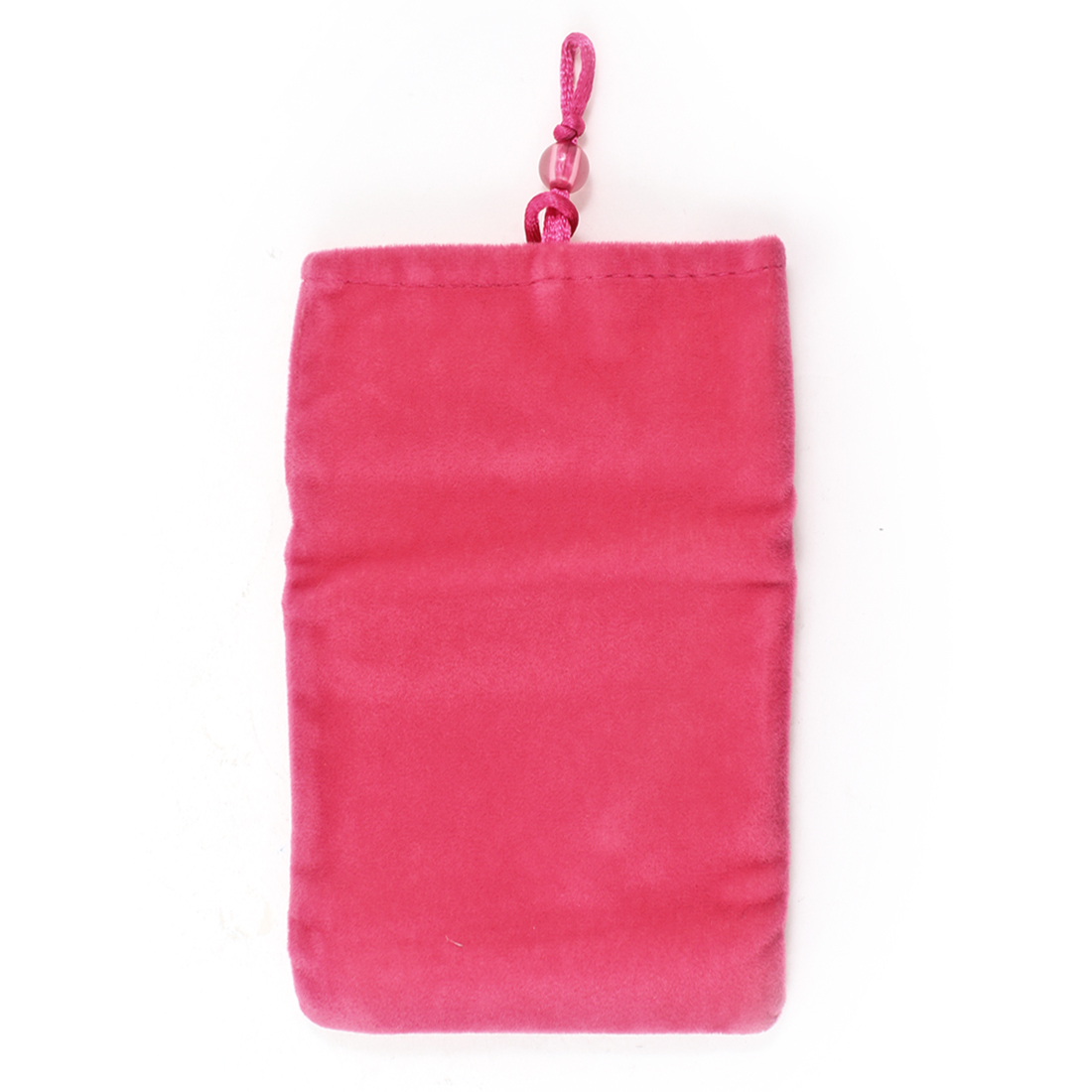 Fuchsia Mobilephone MP4 Vertical Velvet Protector Pouch Bag