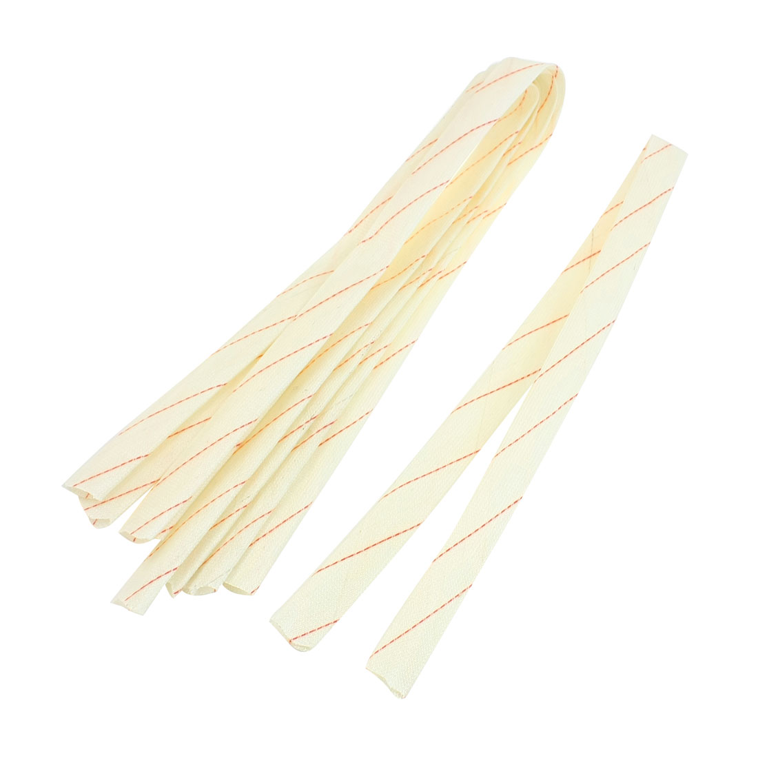 21mm x 80cm Fiberglass Insulating Sleevings 5 Pcs for Electrical Wire