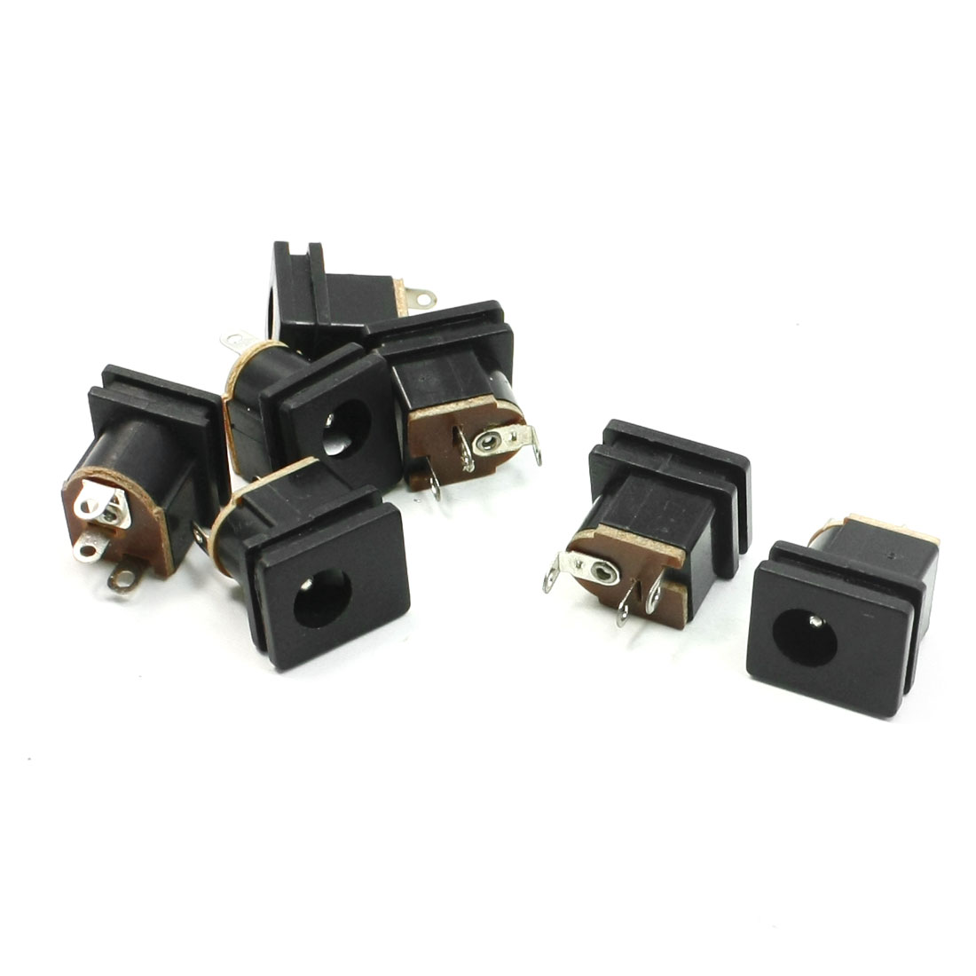 7 Pcs PCB Mounted 2.1x5.5mm Stereo Jack Socket Audio Video Connector