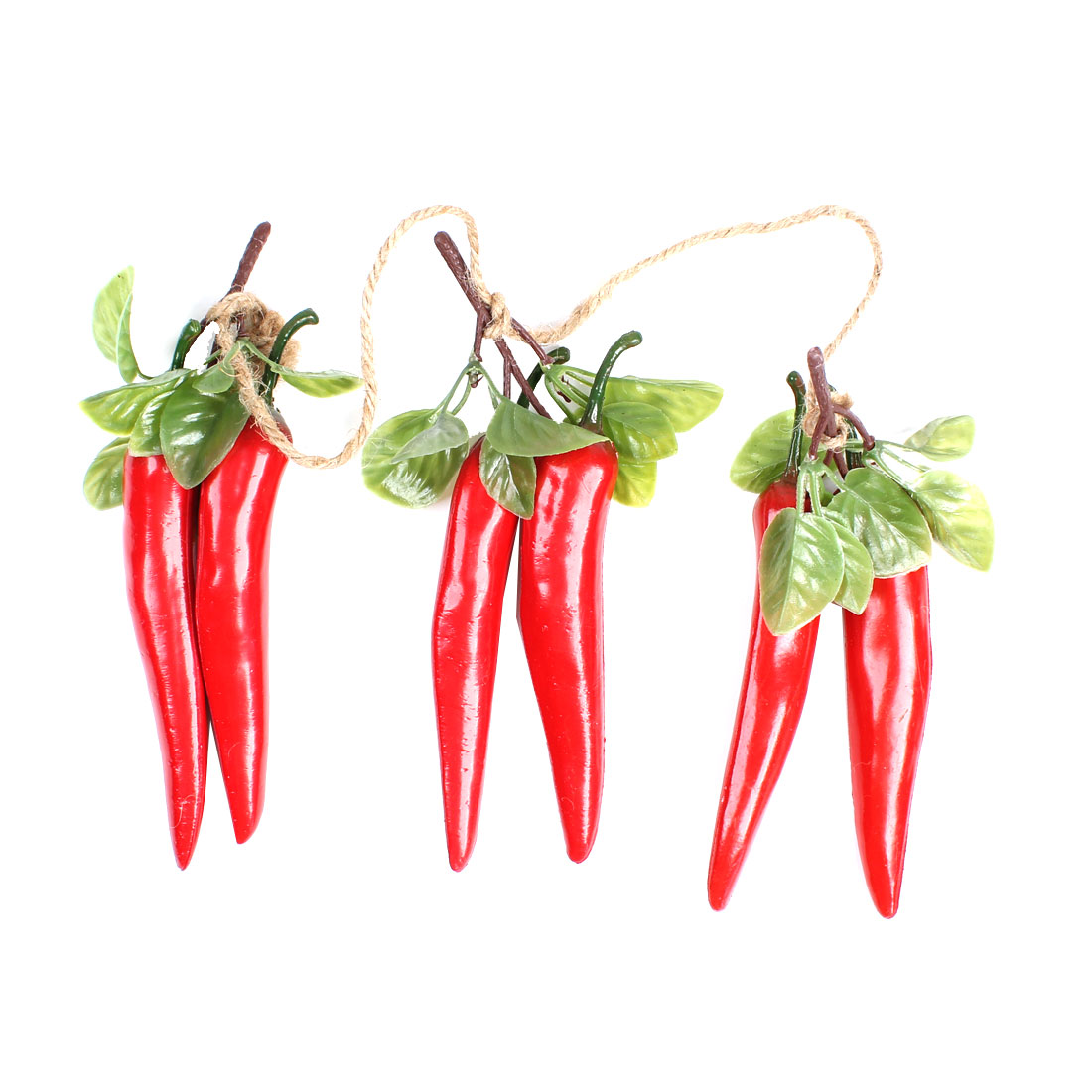 Home Restaurant Emulational Red Plastic Pepper Vegetable Hanging Decoration