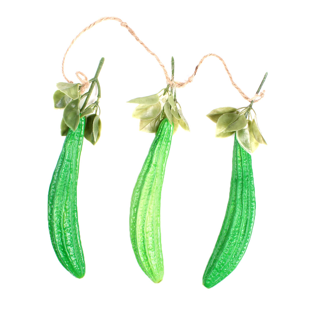 Home Restaurant Emulational Green Plastic Cucumber Hanging Decoration