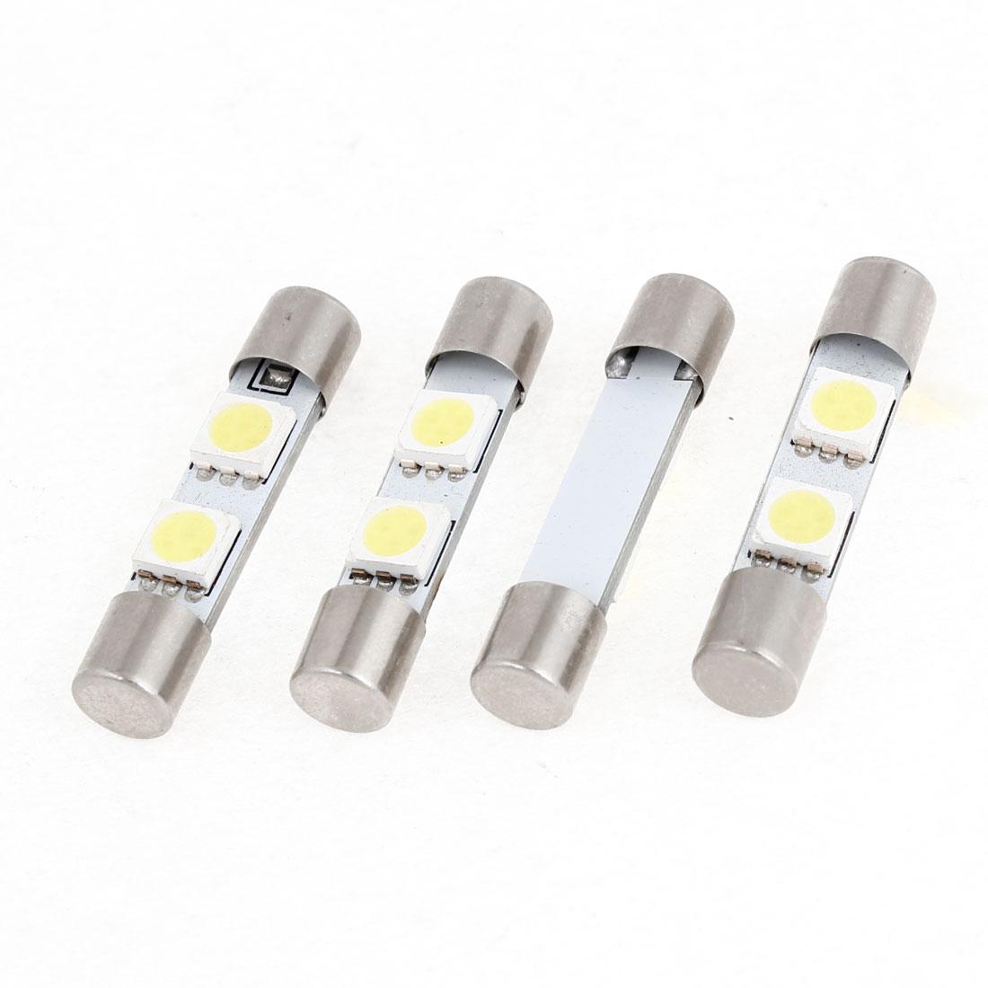 4pcs Car Automobile White 5050 2-SMD LED Festoon Dome Light Lamp Bulb 31mm