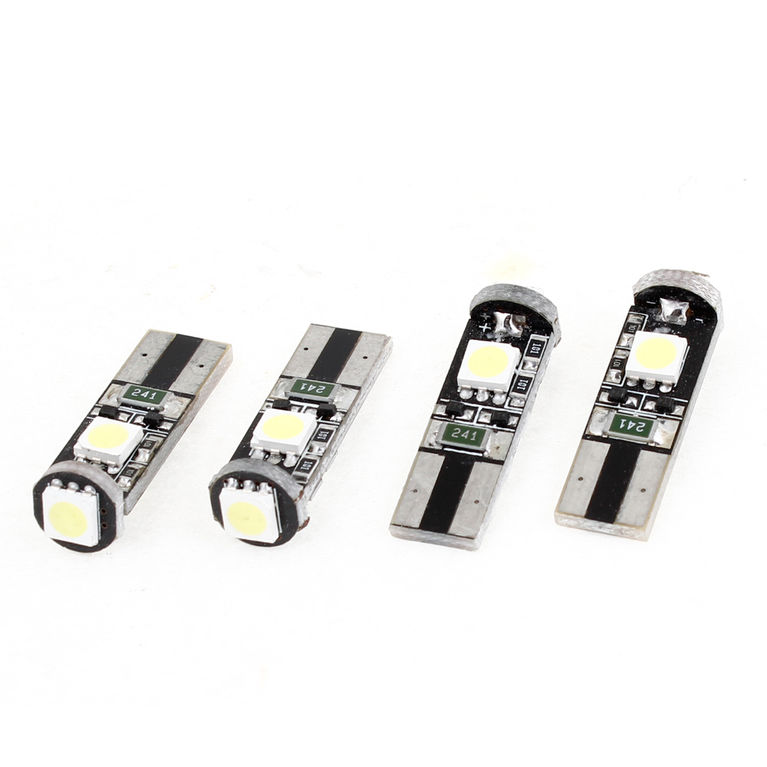 Car Vehicles No Error Canbus W5W T10 5050 SMD 3 LED White Light Bulb 4 Pieces