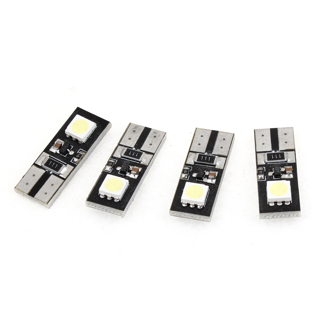 4 x Car T10 W5W White Error Free Canbus 5050 SMD 2 LED Lights Bulbs Lamps