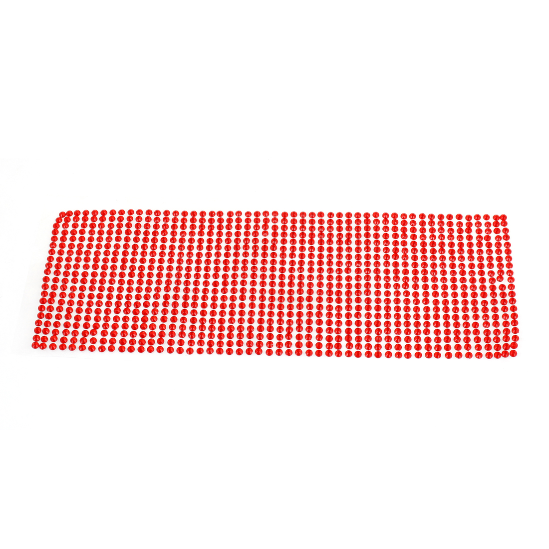 Car Vehicle Exterior Red Mini Rhinestones Decor Stickers Ornament 25.5cm x 9cm