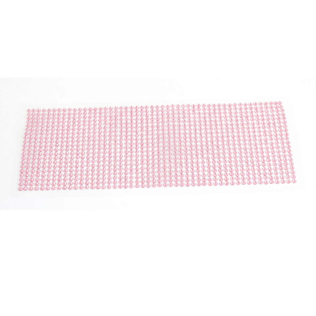 "Car Auto Pink 4mm Dia Glittery Rhinstones Detailing DIY Stickers Decal 10"" Long"
