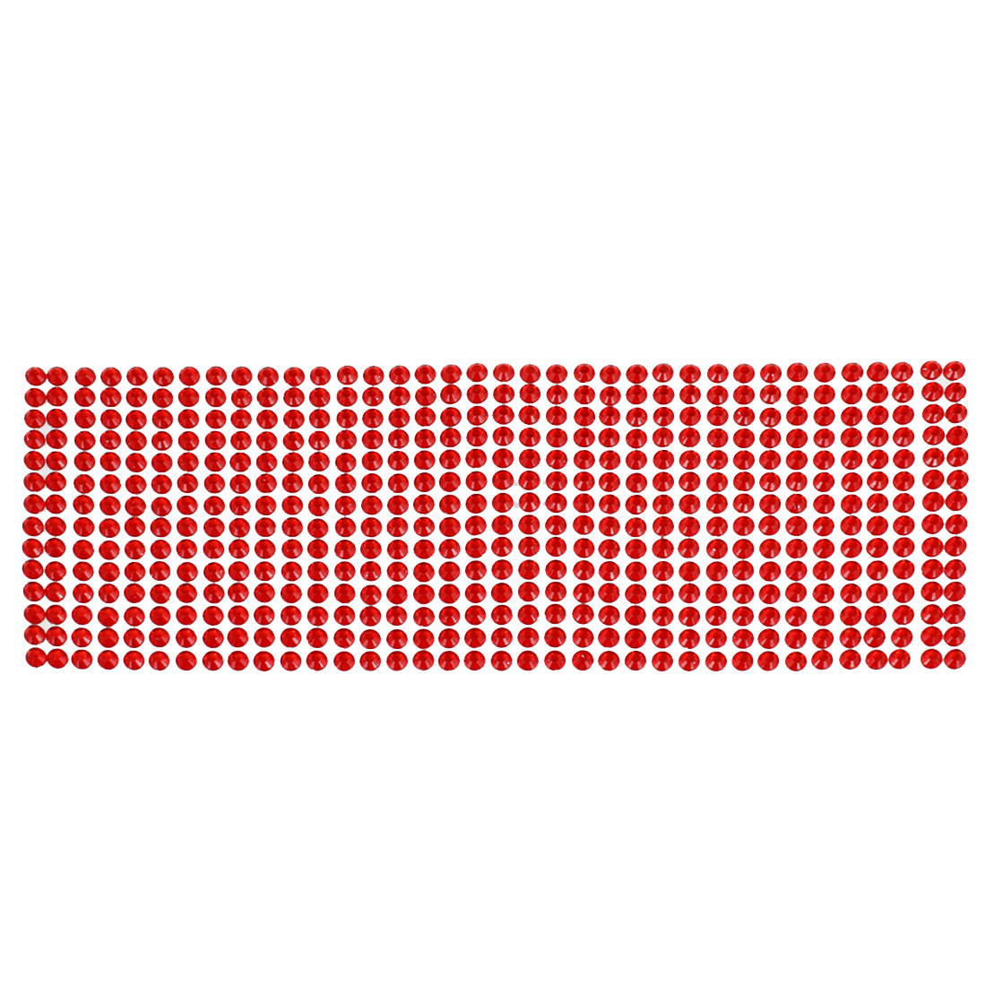 "10"" Long 3.5"" Wide DIY Red Bling Rhinestone Self Adhesive Stickers for Auto Car"