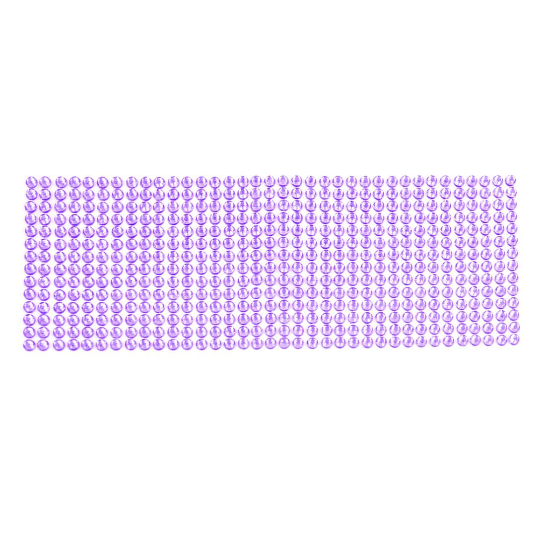 Car Purple 6mm Diameter Bling Rhinestones Detail DIY Stickers Decal Decoration