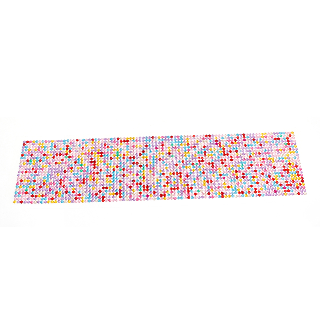 Car Multicolor 4mm Dia Bling Rhinestones Detailing DIY Stickers Decal 36cm Long