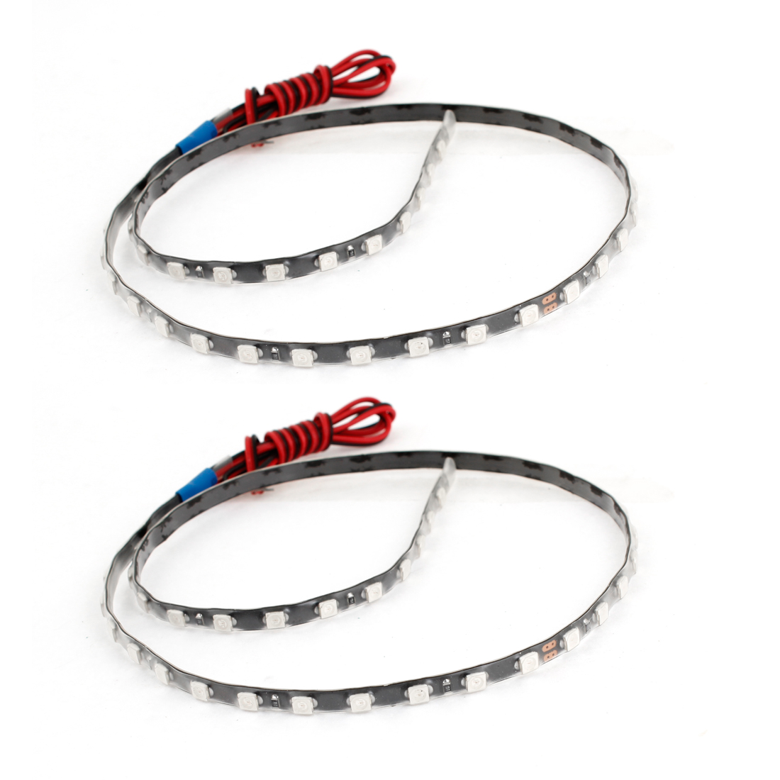 2PCS Blue 45 1210 SMD Vehicle Car LED Flexible Light Strip Decor 45cm Long