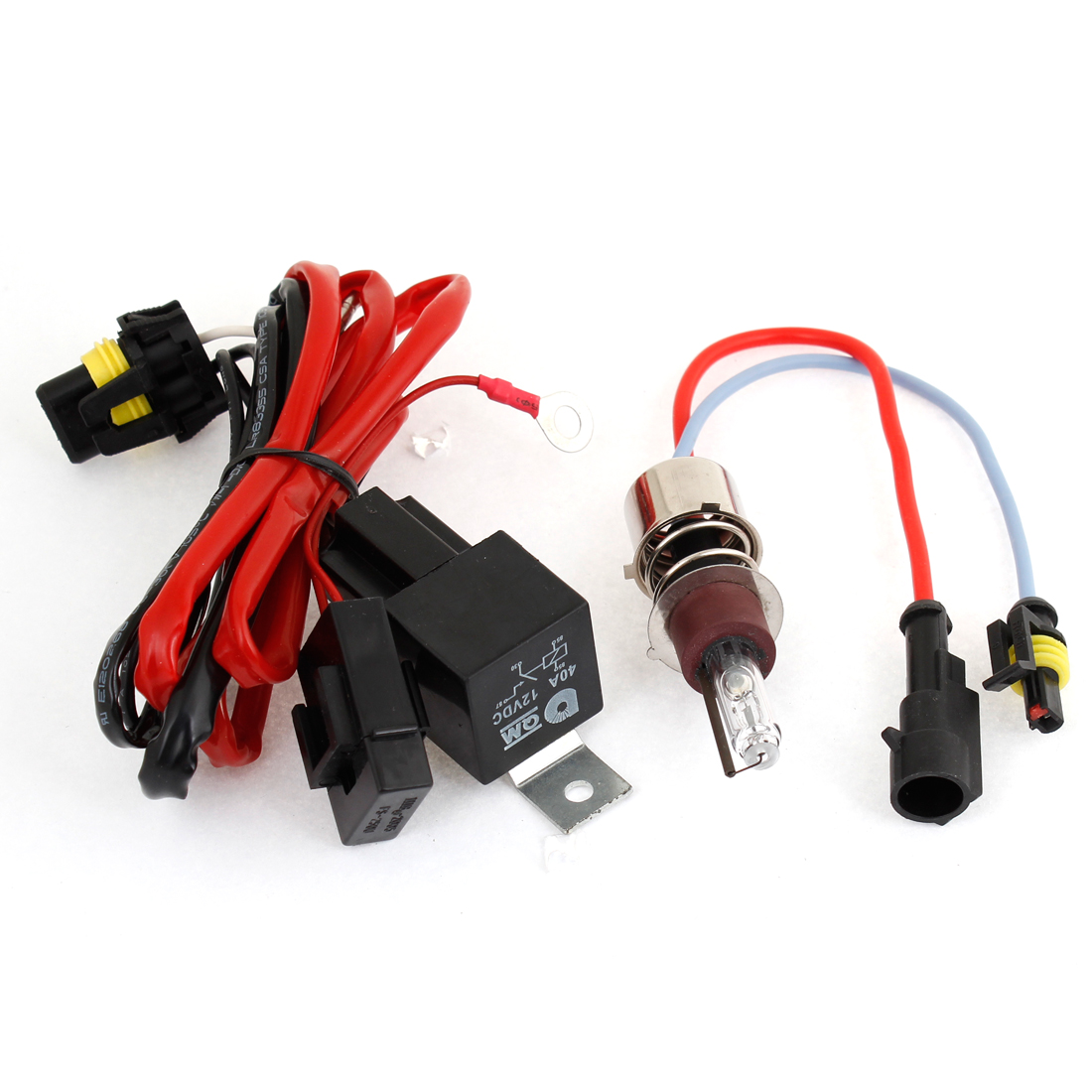 Car 25W 4300K Xenon HID H6 Headlight Bulb w Wiring Harness Controller