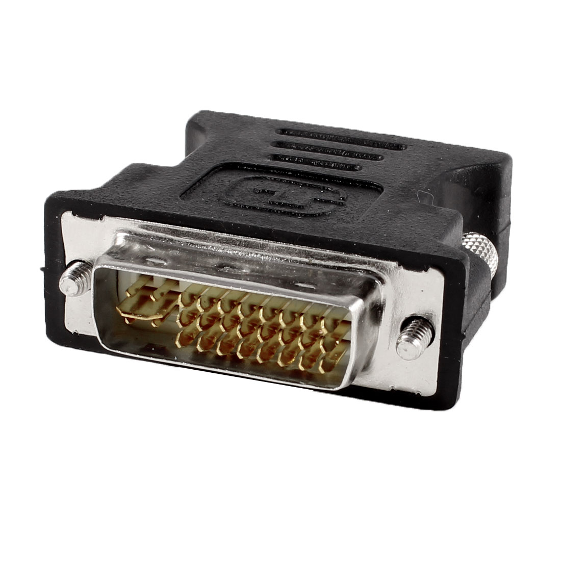 PC Computer DVI-I 24+5 Pin Male to VGA 15 Pin Female Convertor Adapter Black