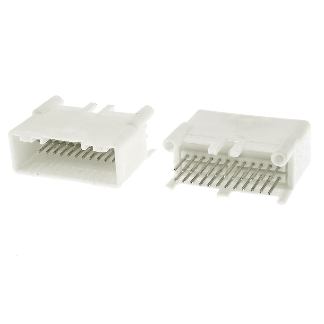 2pcs White Plastic Casing 20-Pin IDE Male Test Connector for Nissan Teana