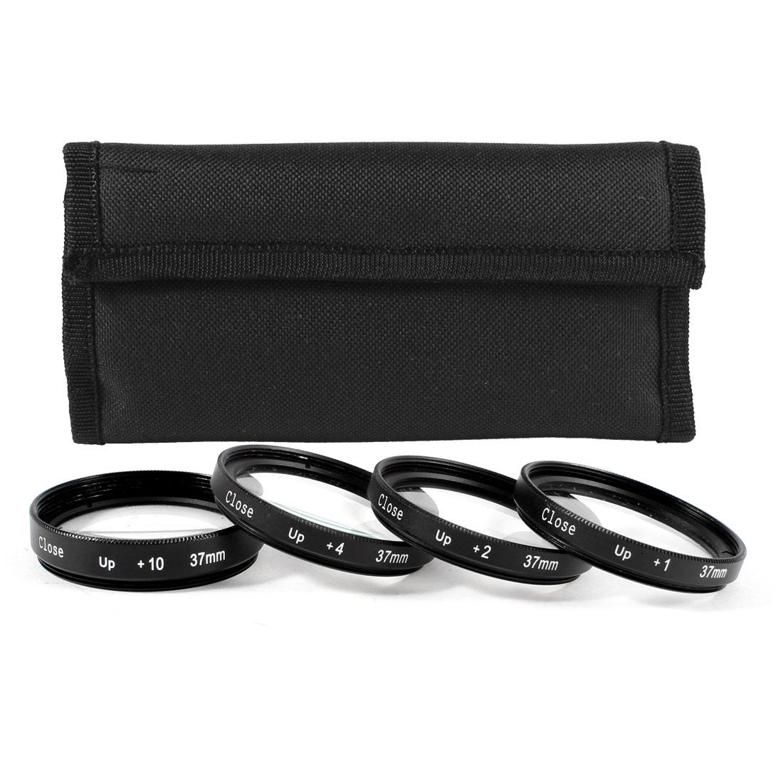 37mm Macro Close Up Lens +1 +2 +4 +10 Filter Kit for DSLR SLR Camera
