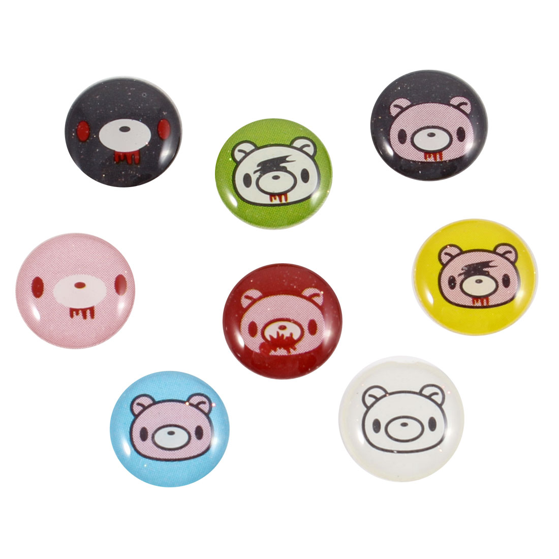 8 in 1 Multicolor Cartoon Bear Home Button Sticker for Apple iPhone 3 3GS 4 4G 4S