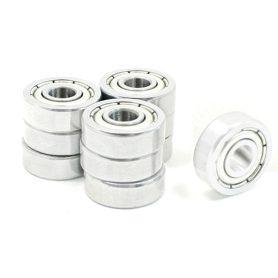 12mm x 4mm x 4mm Shielded Sealed 604 Motor Deep Groove Ball Bearing 10 PCS