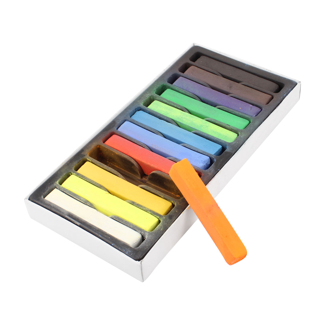 12 Piece Colour Non-Toxic Temporary Color Hair DIY Dye Soft Pastels Hair Chalk