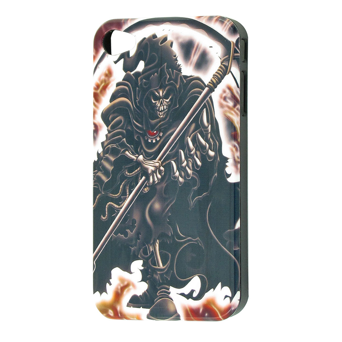 Black Hard Plastic Evil Pattern Back Case Cover for iPhone 4 4G