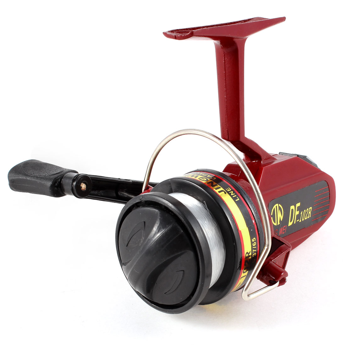 Red Black 5.0:1 Gear Ratio 3 Ball Bearings Fishing Spinning Reel Spool