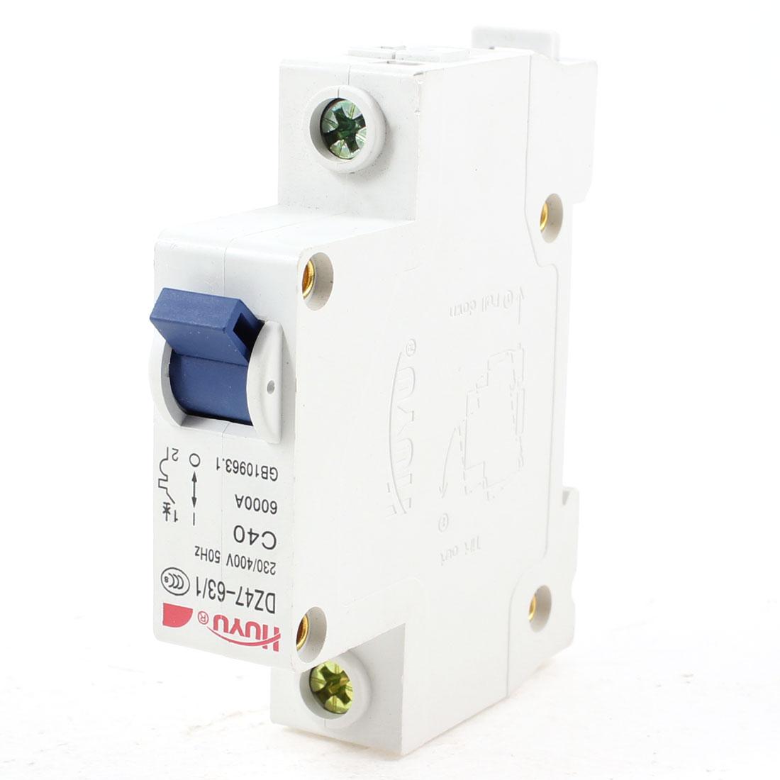 DZ47-63/1 230/400VAC 6000A 1 Pole Electrical Circuit Breaker