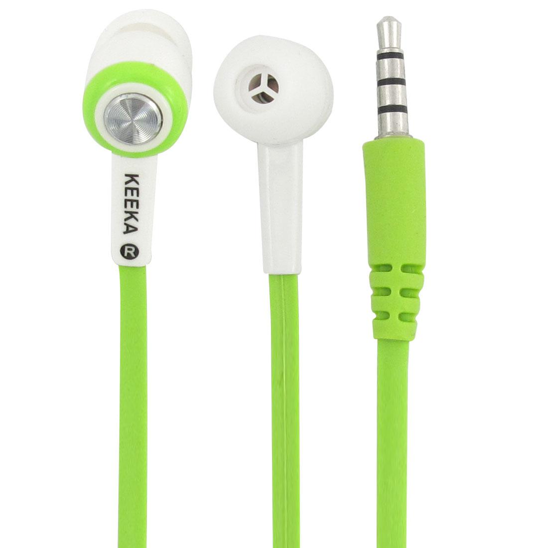 Authorized KEEKA White 3.5mm Stereo In Ear Earphone w Mic Green