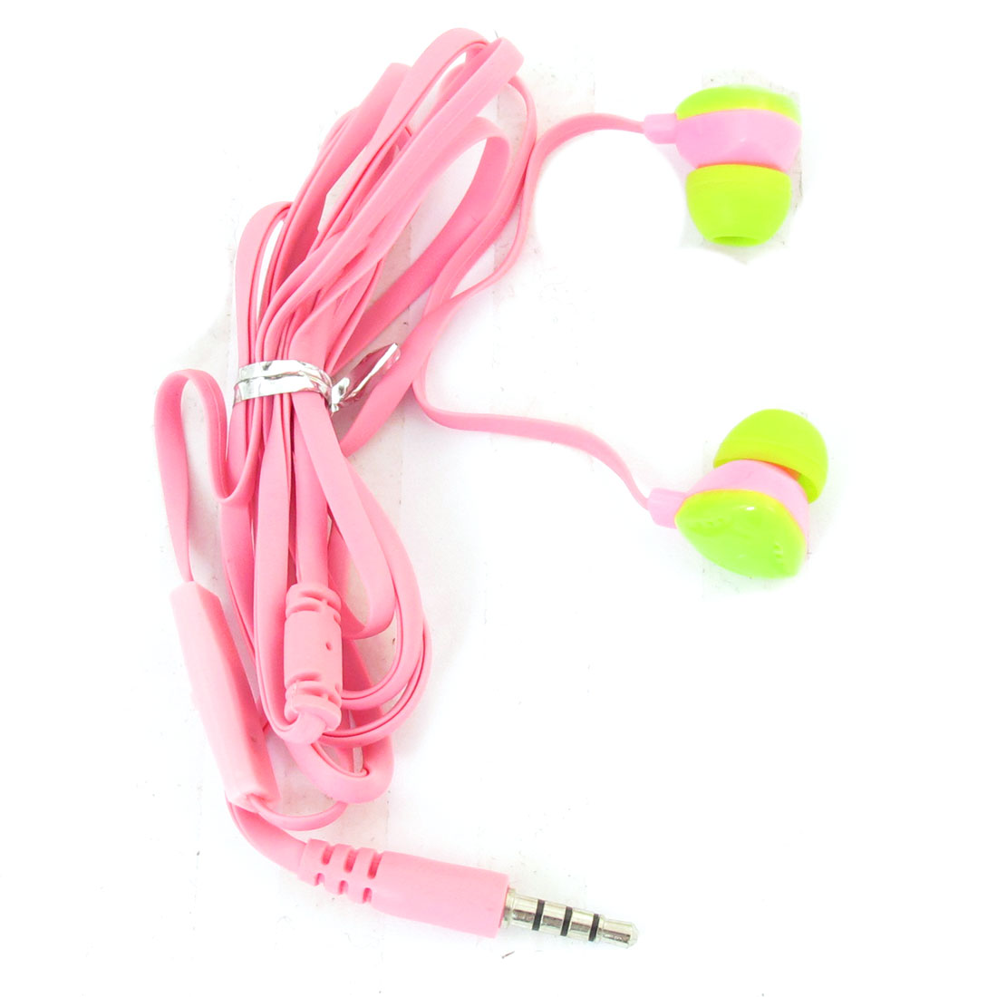 Green Triangle Earbuds 3.5mm Plug In Ear Earphone w Mic Pink for iPhone iPad iPod