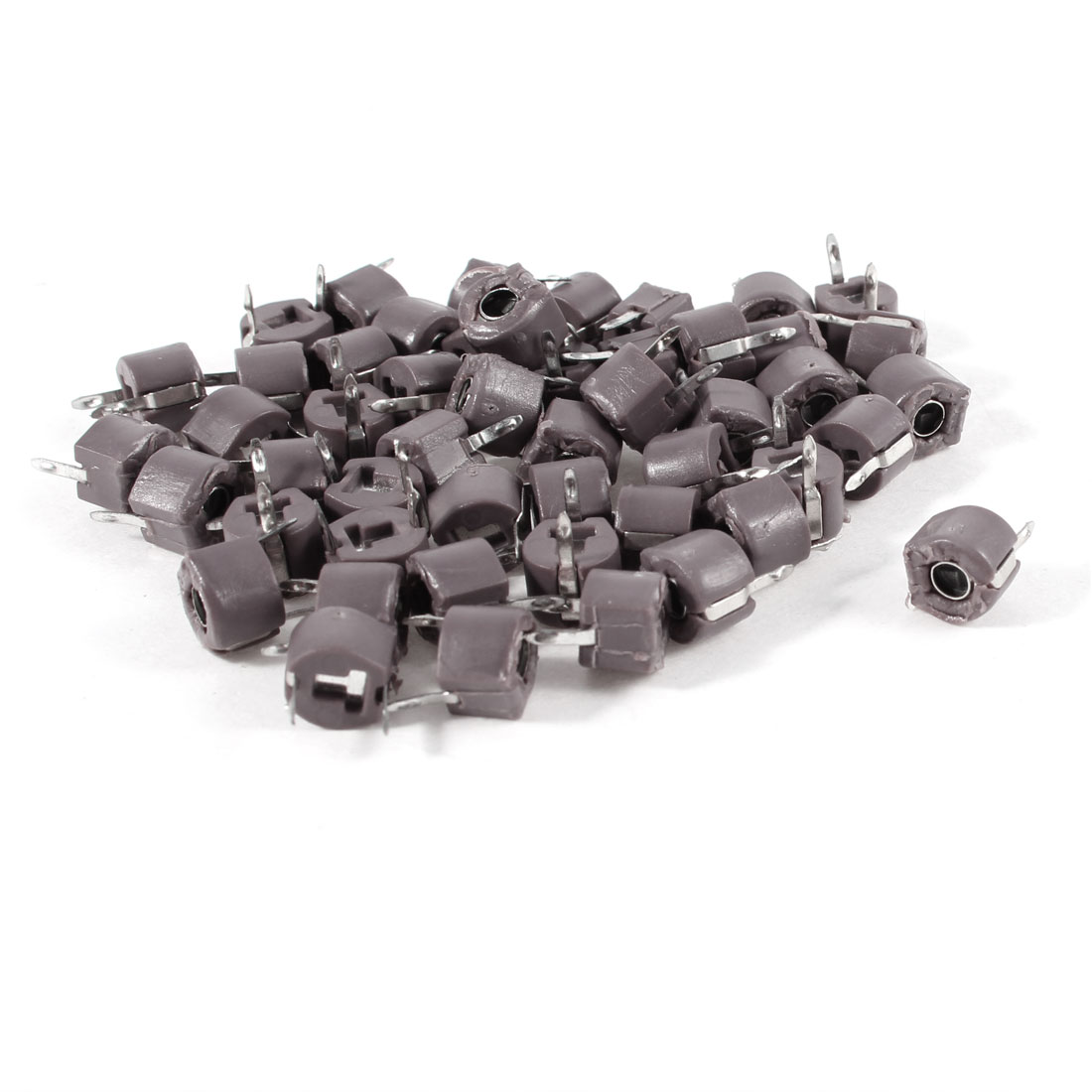 50 Pcs Through Hole 6mm Trimmer Variable Capacitors 120pF Rosy Brown