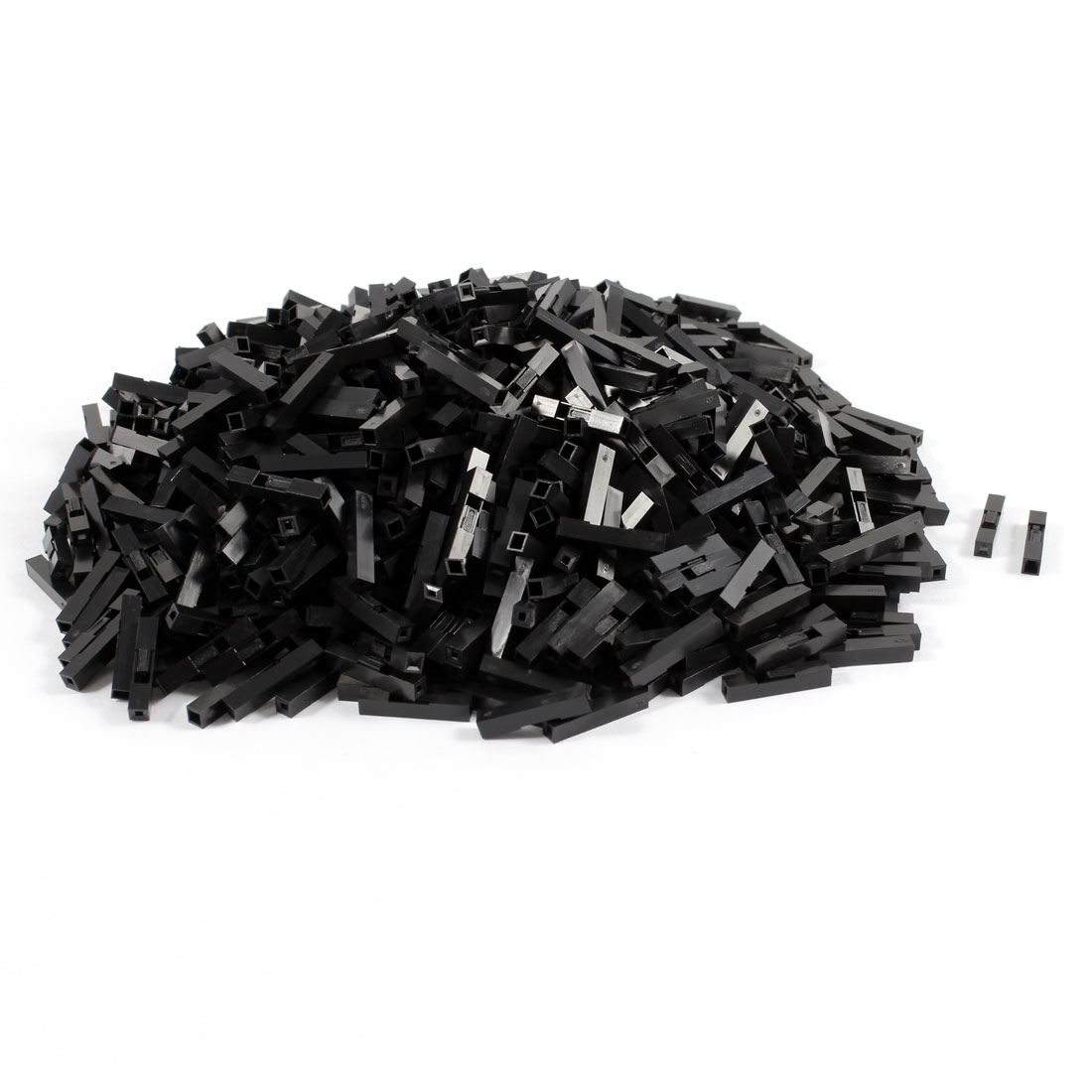 1000 Pcs Black Plastic 1 Pin Female 2.54mm Pitch Car Auto PC PSU ATX Connector