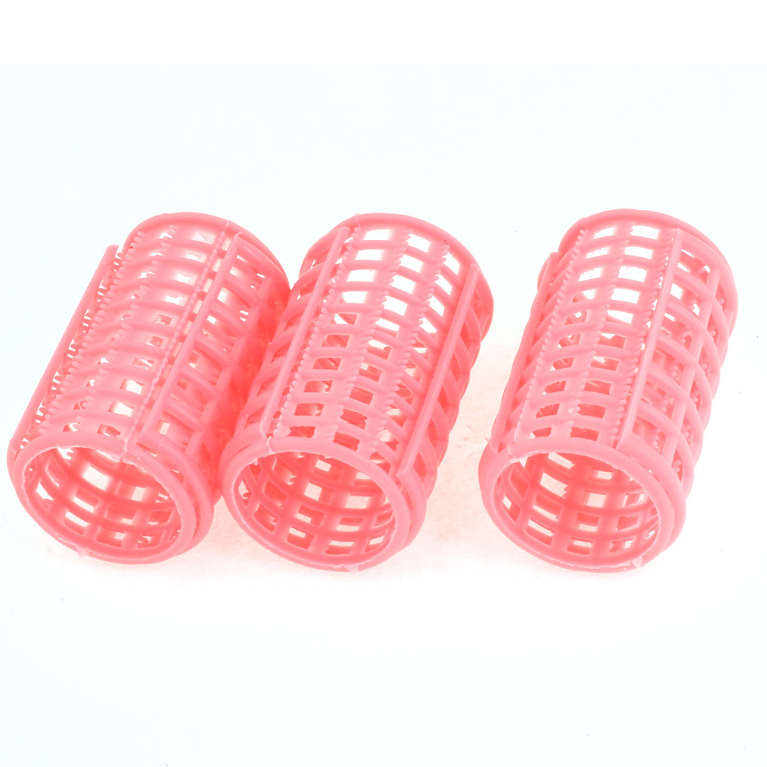 3 Pieces Fuchsia Plastic DIY Hairdressing Hair Curling Roller Curler for Lady