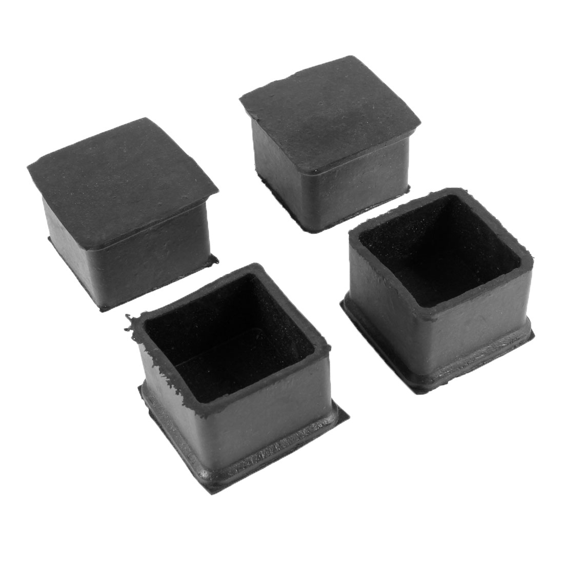 38mm Dia Square Furniture Table Chair Rubber Foot Pads Black 4 PCS