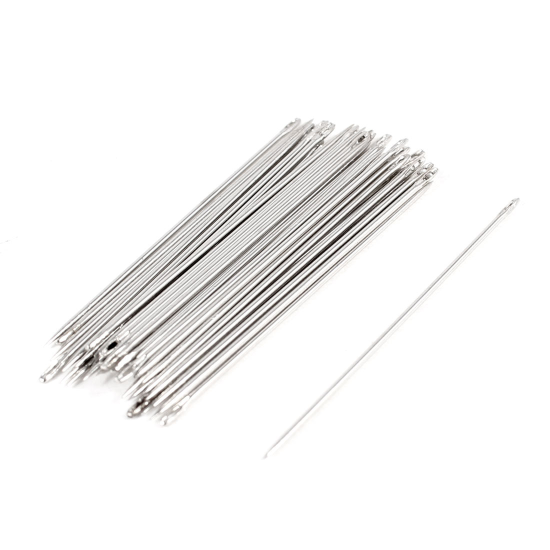 37 Pcs Silver Tone Stainless Steel Sack Bag Packing Stitching Needles 1.7""