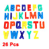 Fridge Assorted Color Plastic A-Z English Letters Magnetic Sticker Ornament 26 Pcs