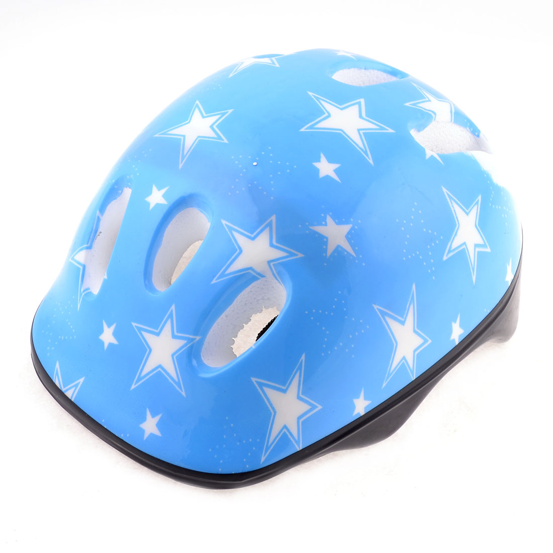 Adult White Foam Lining Sponge Pad Safety Bicycle Skating Helmet Blue