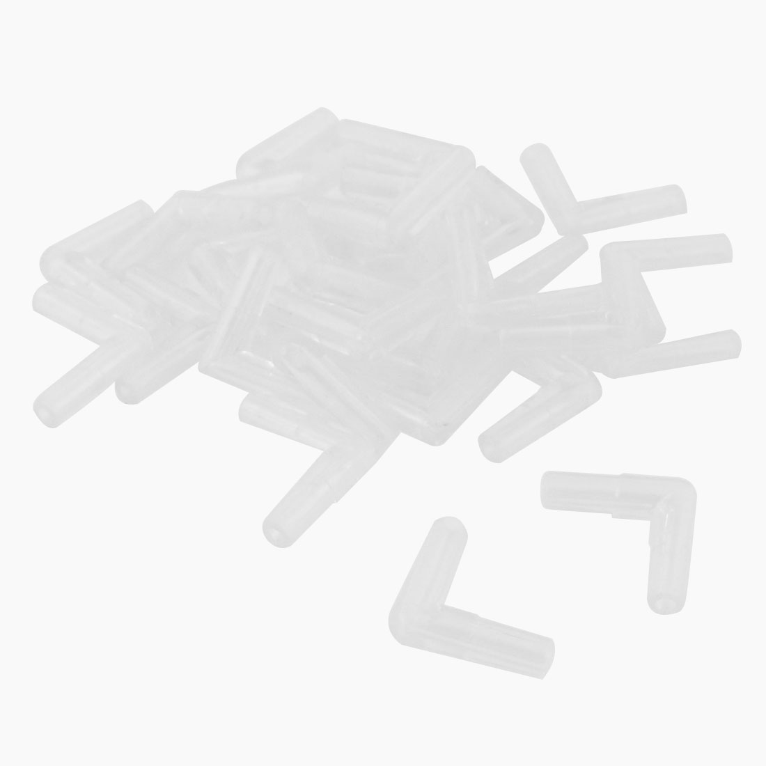Aquarium Tank Clear Plastic 2 Way Air Valve Line Connectors 30 Pcs