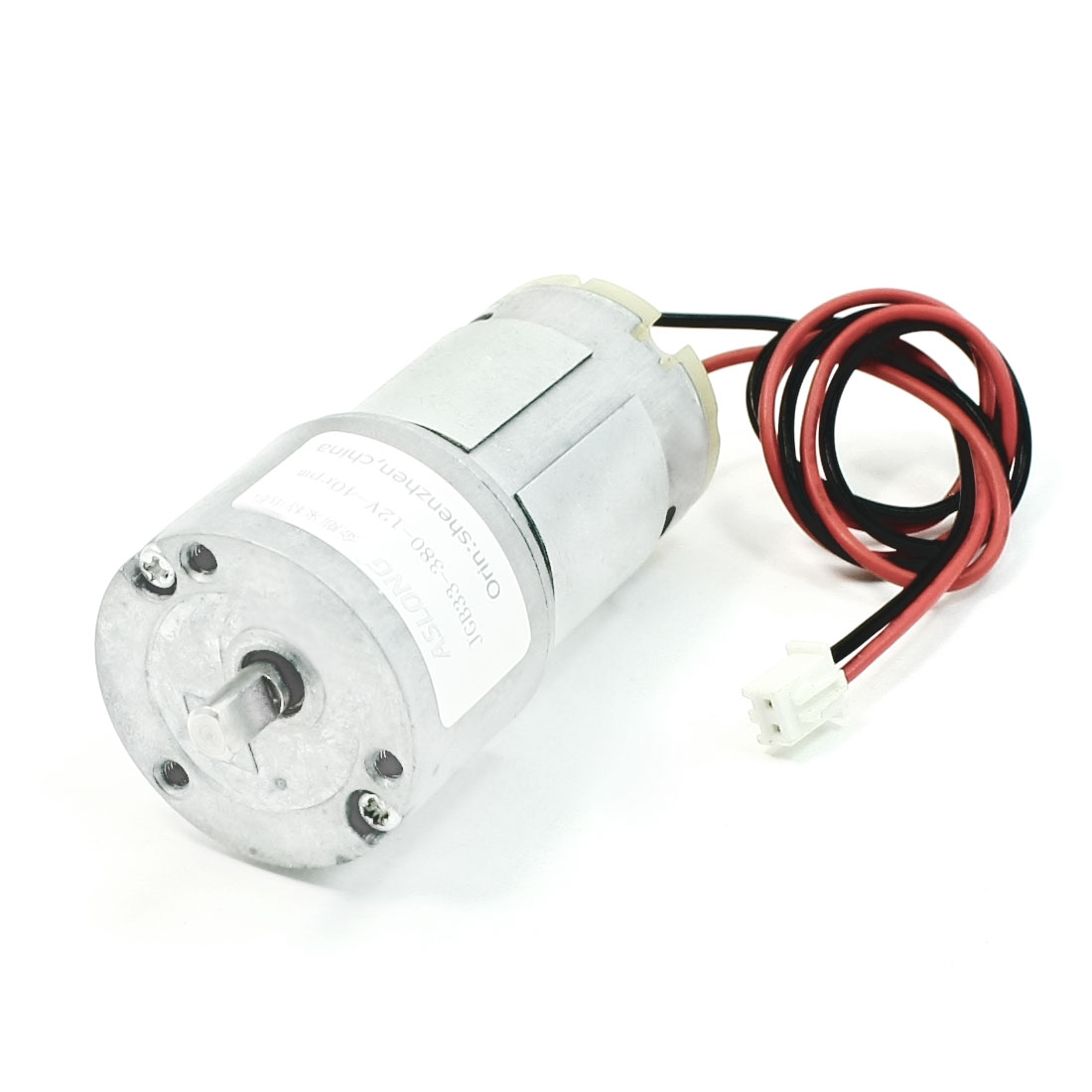 DC 12V 4.3mm Diameter Drive Shaft 40RPM Geared Speed Reducing Motor
