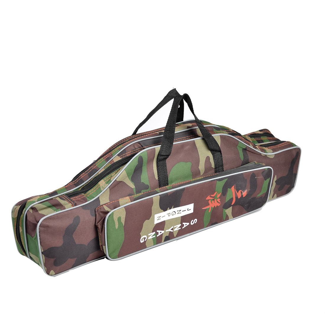 "27.6"" Camouflage Printed 3 Compartments Fishing Rod Pole Reel Food Tackle Bag"