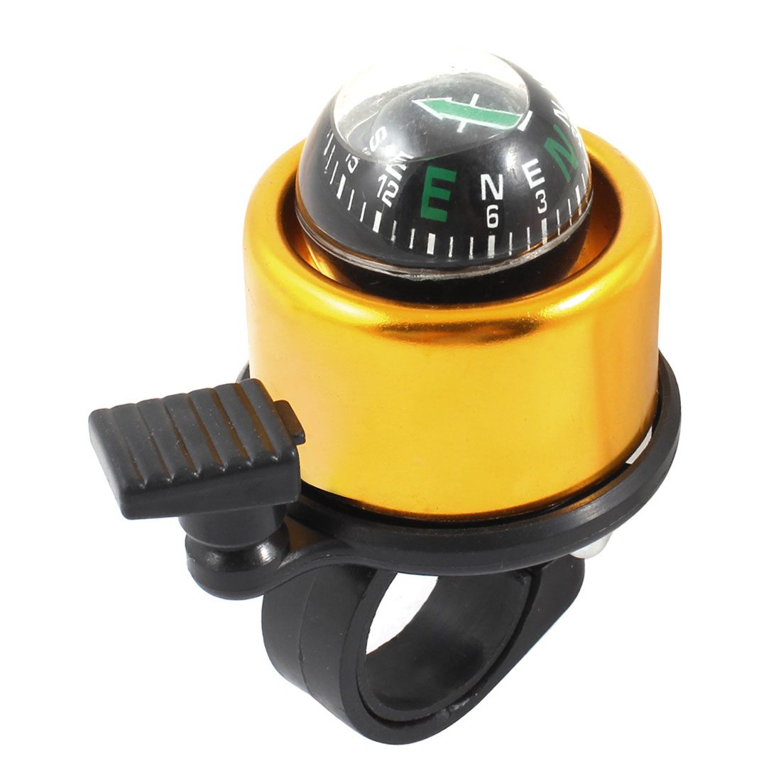 Black Gold Tone Compass Design Bell for Bicycle Cycling