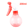 200ml Plastic Trigger Hair Salon Flower Water Spray Bottle Clear Red