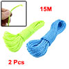 2 Pcs 49.2Ft Long Clothes Hanging Rope Nylon Clothesline Blue Light Green