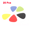 25 Pcs Red White Blue Plastic Guitar Picks 0.81mm 0.71mm 0.58mm