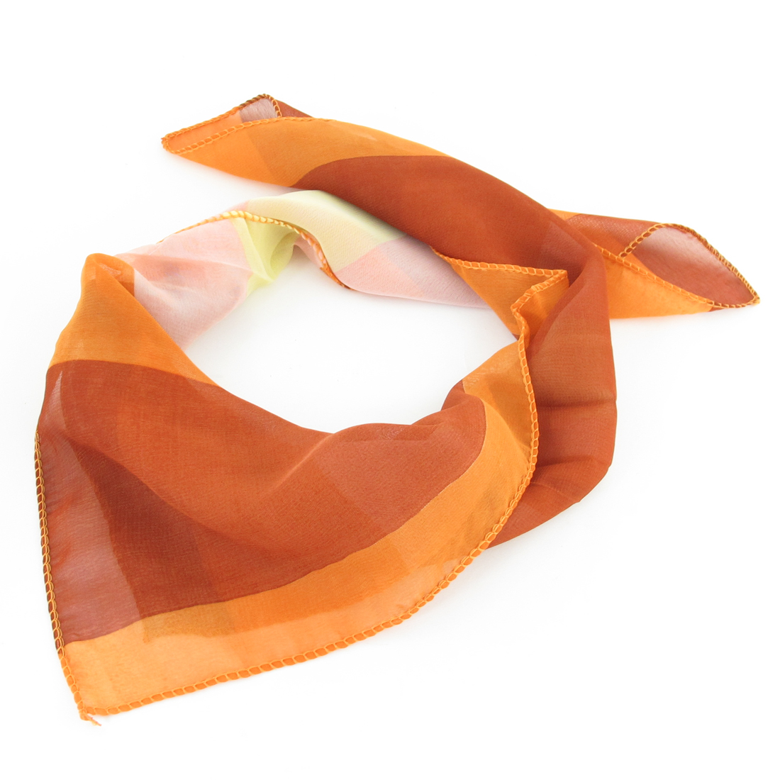Assoted Color Strips Pattern Square Shape Neck Scarf Wrap Kerchief for Women