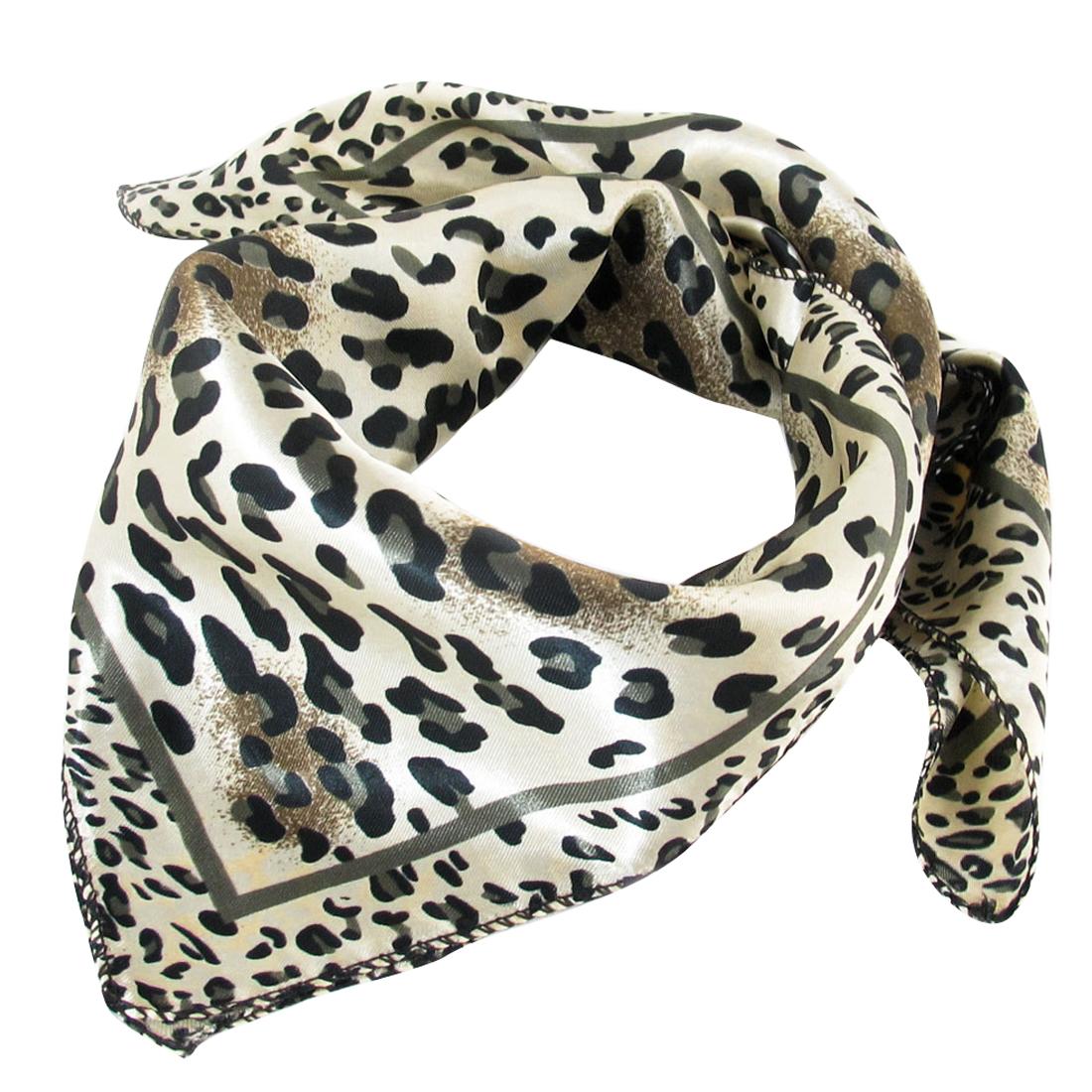 "Khaki Leopard Pattern 20.5"" x 20.5"" Square Kerchief Neckerchief Scarf"