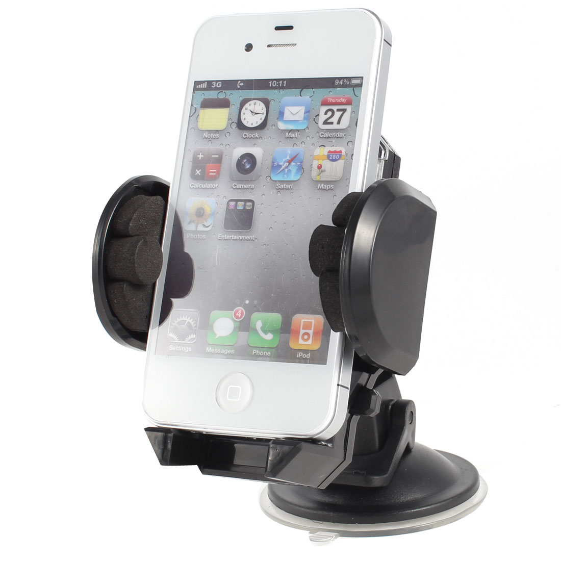 Black Plastic Car Windshield Suction Cup Rotatable Bracket Holder for PDA GPS