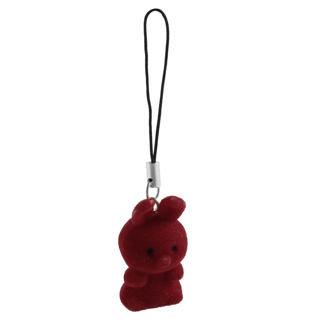 Red Flannel Design Rabbit Mobile Cell Phone Handbag Charm Strap